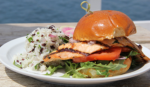 Malibu Farm's Salmon Burger | Photo credit: Martin Lof