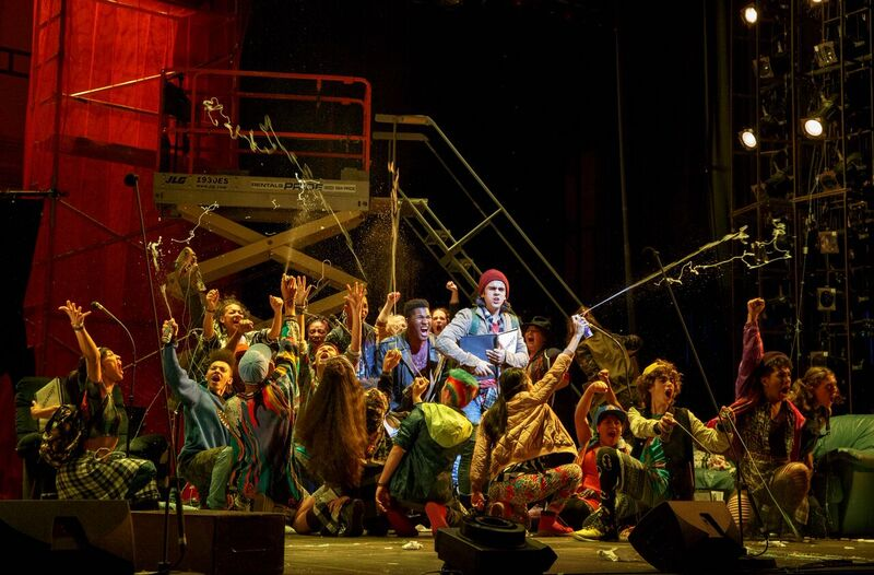 The Cast of the Encores! Off-Center production of Runaways by Elizabeth Swados| © Joan Marcus