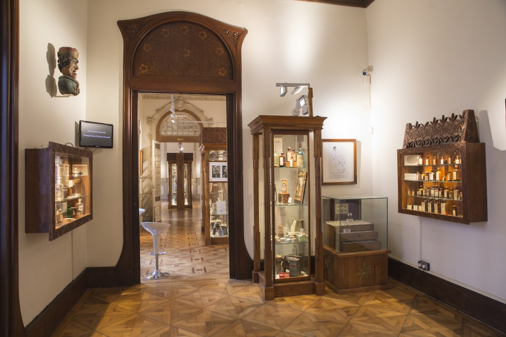 The museum contains hundreds of items relating to both the production and consumption of the plants © Courtesy of Hash, Marijuana and Hemp Museum