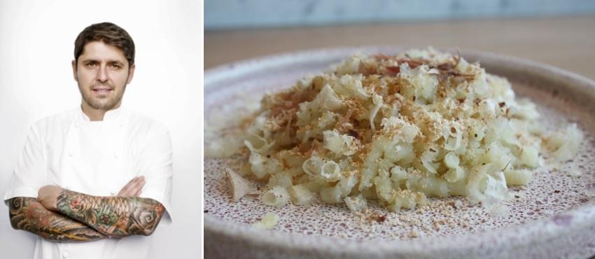 Chef Ludo Lefebvre (credit: Lionel Deluy) and the Potato Pulp (credit: Kristine Lefebvre)
