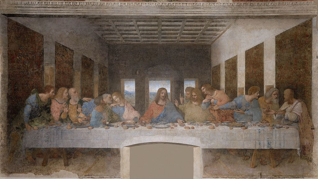 Leonardo da Vinci, The Last Supper, 1495-98 | © Convent of Santa Maria delle Grazie, Milan/WikiCommons