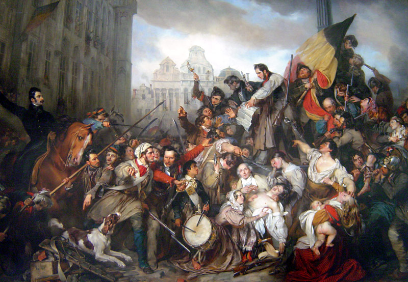 """A painting depicting the Belgian revolution 
