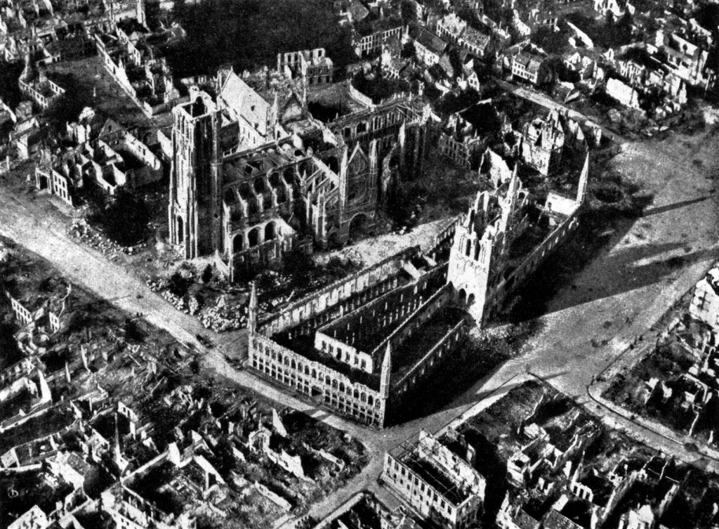 What was left of Ypres after three battles and with two more to come | Wikimedia Commons