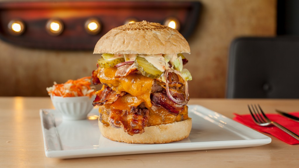 The original 3x3 at The Huggy's Bar is a meat lover's dream come true | courtesy of The Huggy's Bar