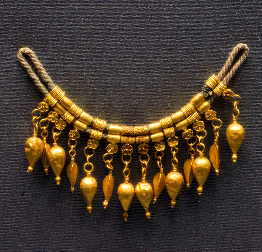 ancient jewelry collection on display at mykonos museum