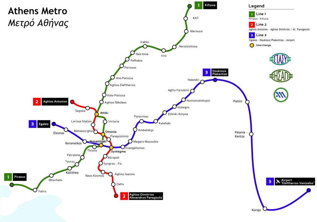 Subway Map Athens Greece.A Brief History Of The Athens Metro