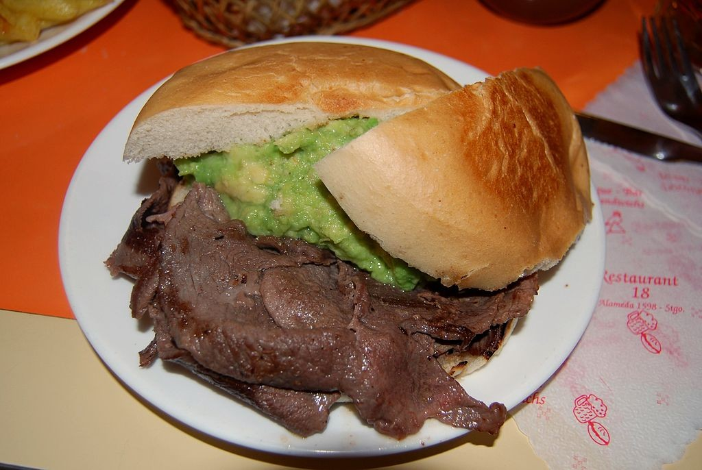 Churrasco sandwich is typical of Miami cuisine. There is a very strong Argentinian influence in South Floridian fare