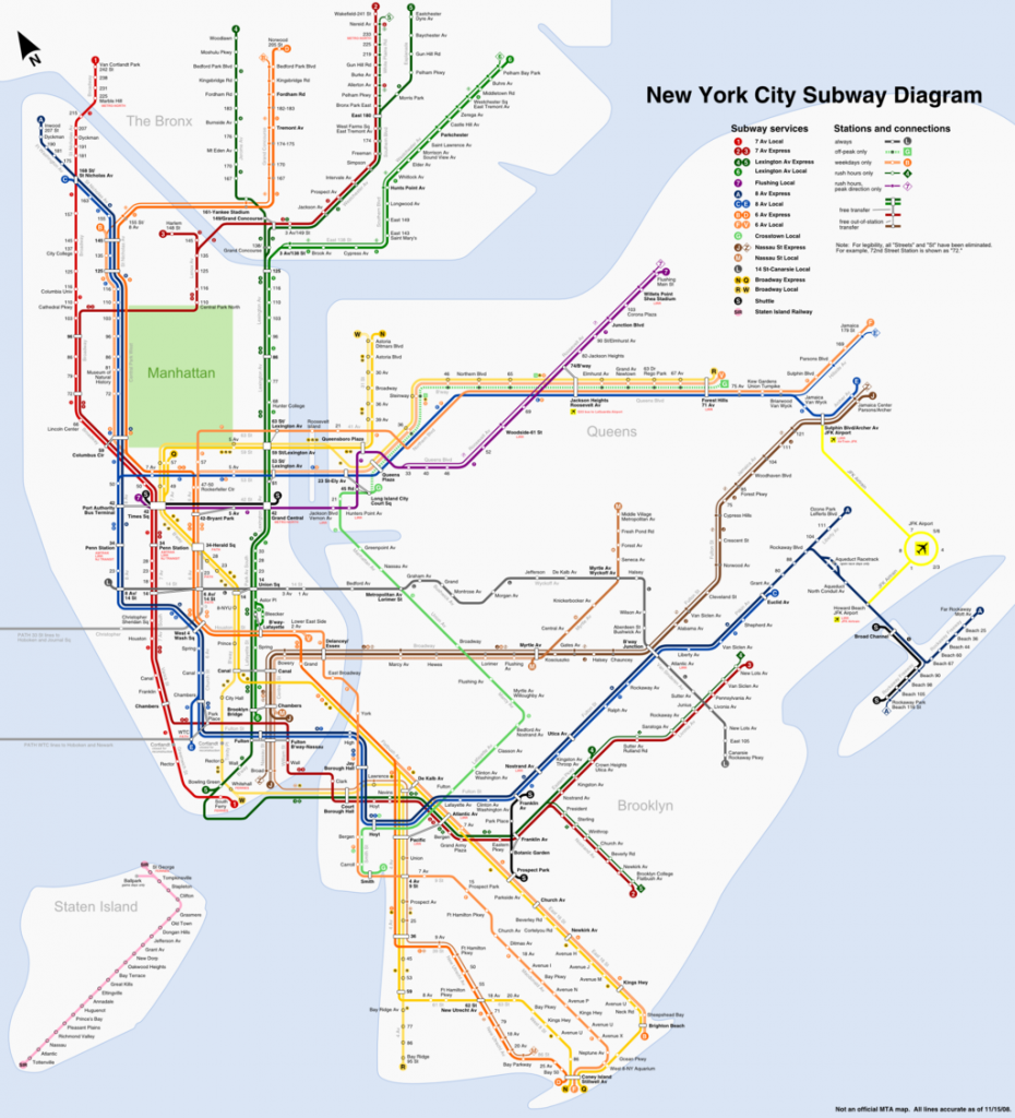 Map Of NYC Subway | © Wikipedia Commons