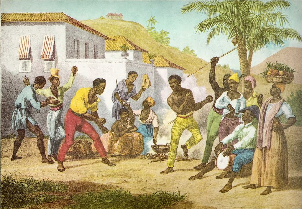 'Jogar Capoeira' (to play capoeira), an oil painting by Johann Moritz Rugandas, 1835 |© Capmo/WikiCommons