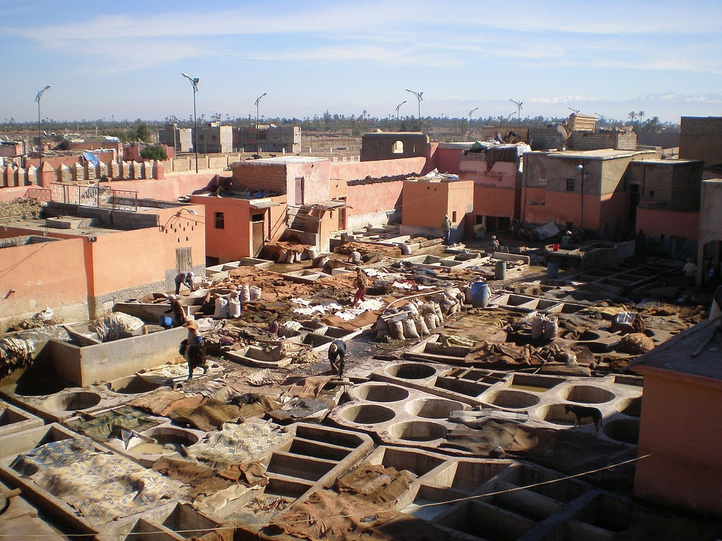 View of the tanneries in Marrakech ©Hector Garcia / WikiCommons