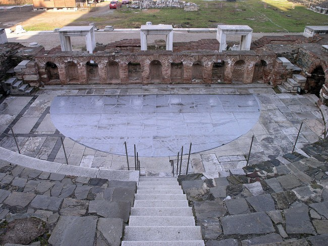 Roman Odeum's scena in the ancient agora in Thessaloniki | © Marsyas /WikiCommons