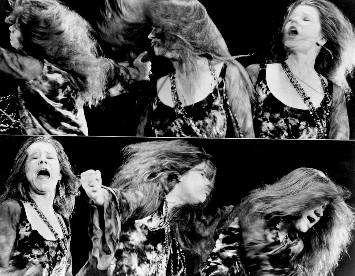 A montage of Janis Joplin performing © ABC Television/Wikipedia