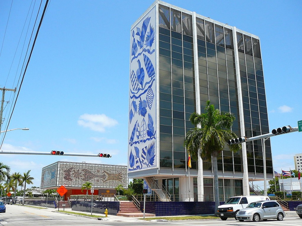 The Bacardi Building in Midtown is a perfect example of Miami Modern Architecture | Wikipedia Commons