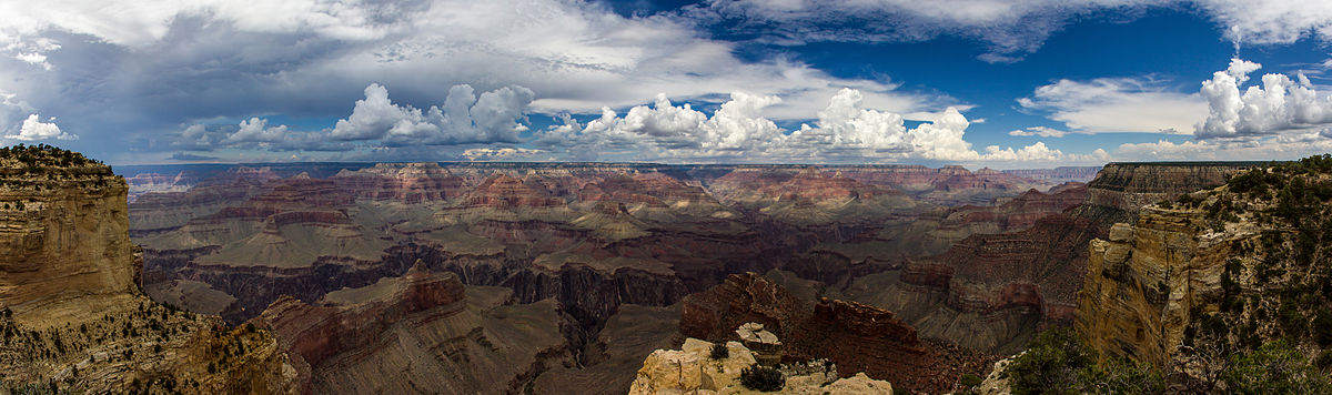 Panoramic view of Grand Canyon - South Rim | © World Wide Gifts/Wikicommons