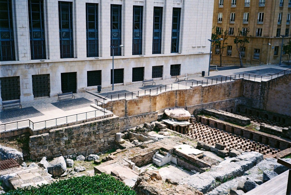 Ancient ruins next to the newly rebuilt Beirut | Courtesy of Harriet Shepherd