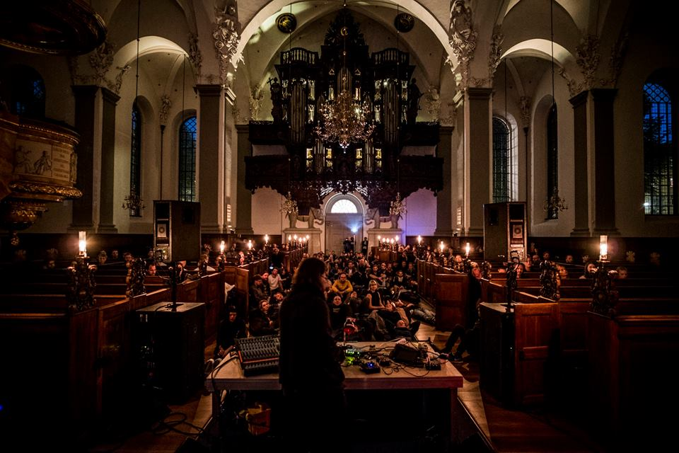 Alessandro Cortini playing in a church as part of Strøm | Courtsey of Strøm
