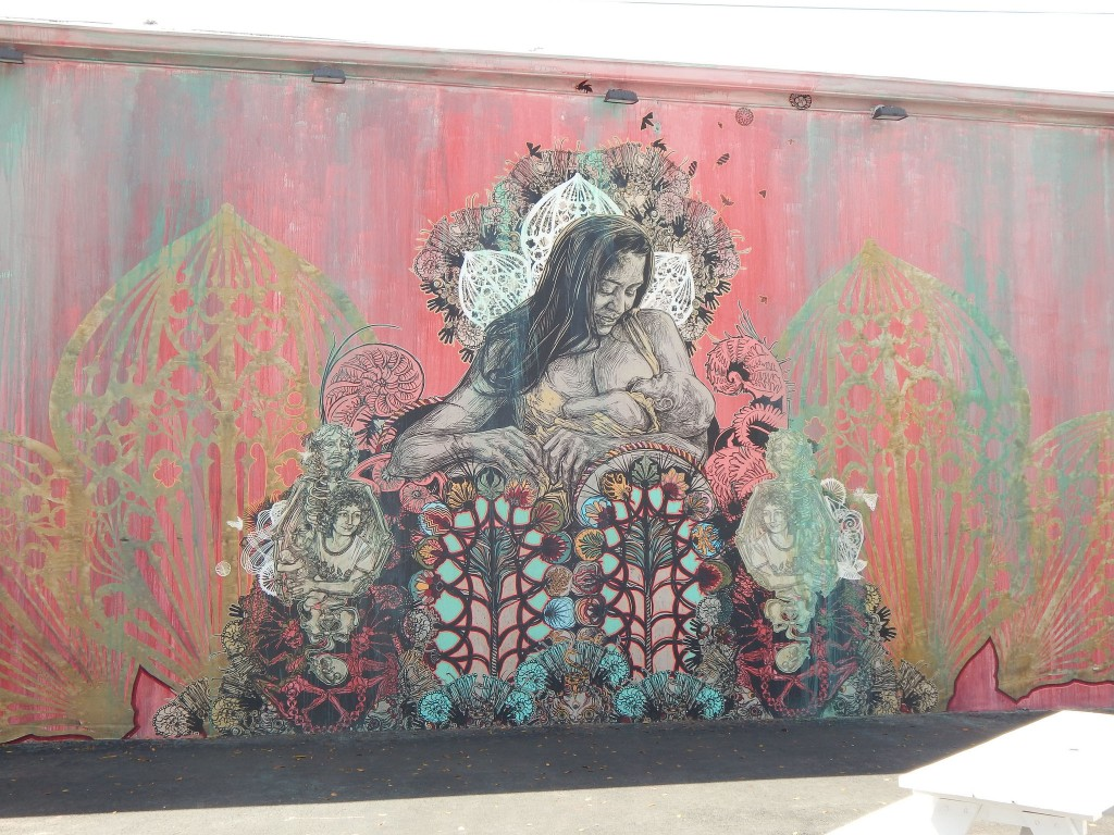 Dawn and Gemma - by Swoon, outside the Wynwood walls | Osseous/Flickr
