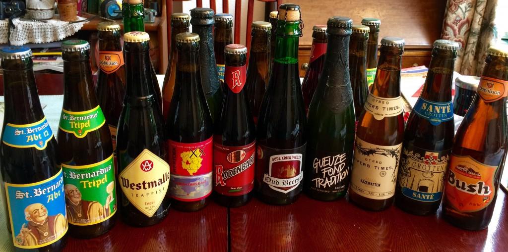 A small sampling of Belgium's 1,500 original beers   © Smabs Sputzer