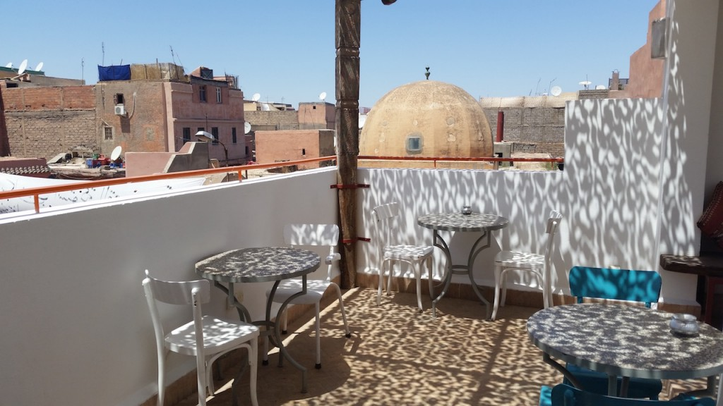 View from the rooftop terrace of Cafe Clock Copyright Mandy Sinclair