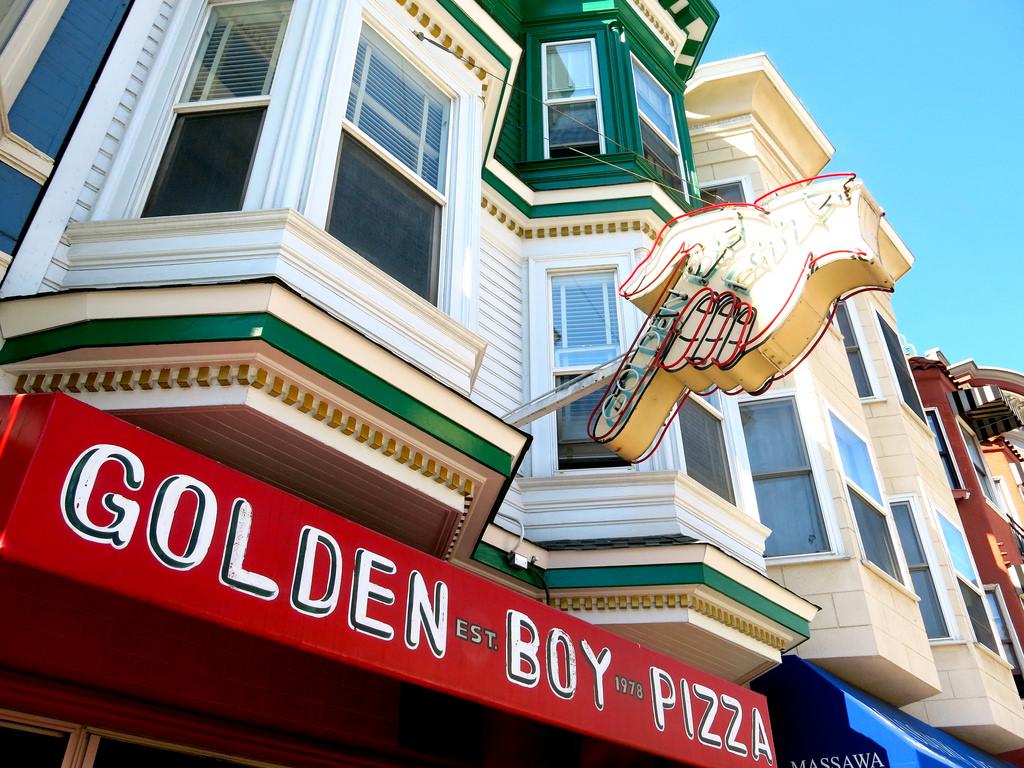 Golden Boy Pizza © torbakhopper/Flickr