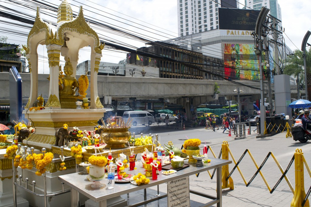 Shrine in downtown Bangkok/Courtesy of Kelly Iverson