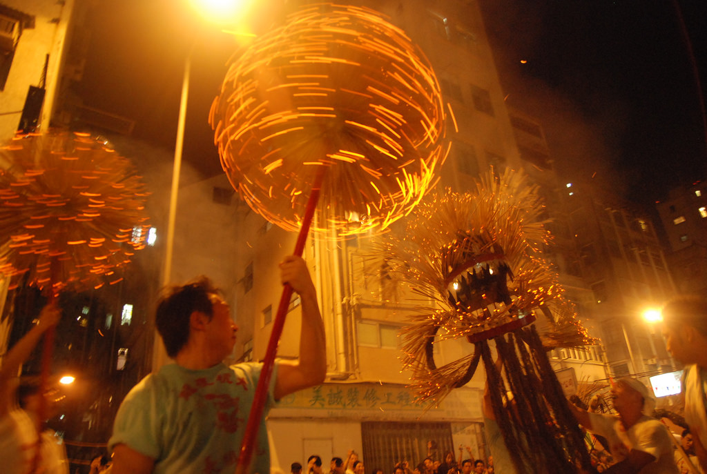 The Tai Hang Fire Dragon Dance being performed | Clare Jim/CC BY-ND 2.0/Flickr