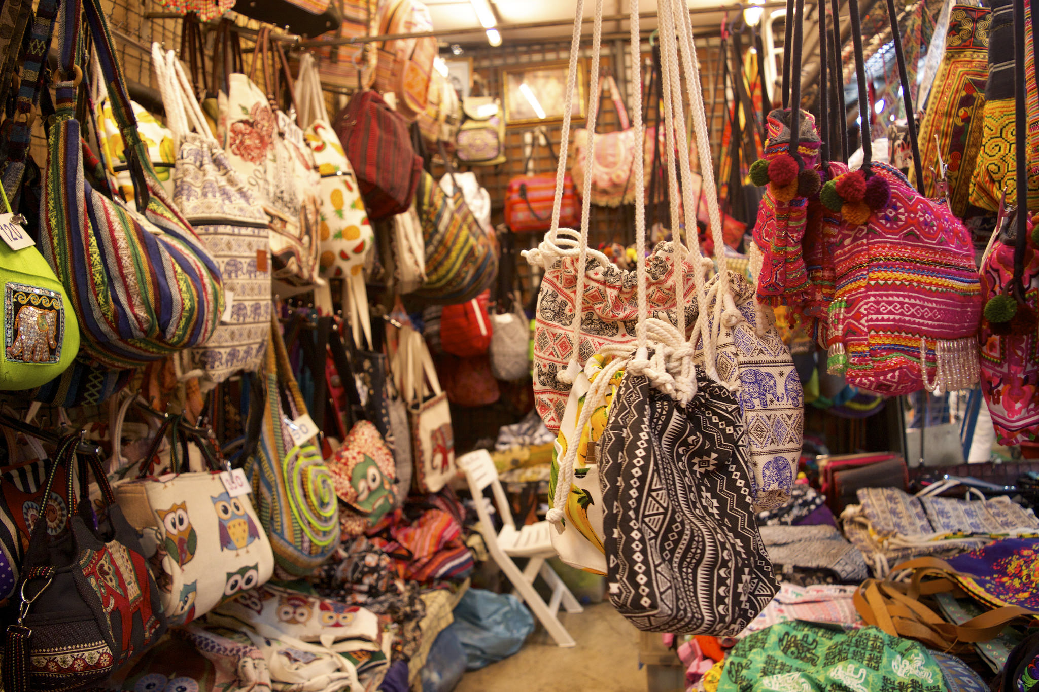 Purses On Display At Chatuchak Weekend Market Image Kelly Iverson