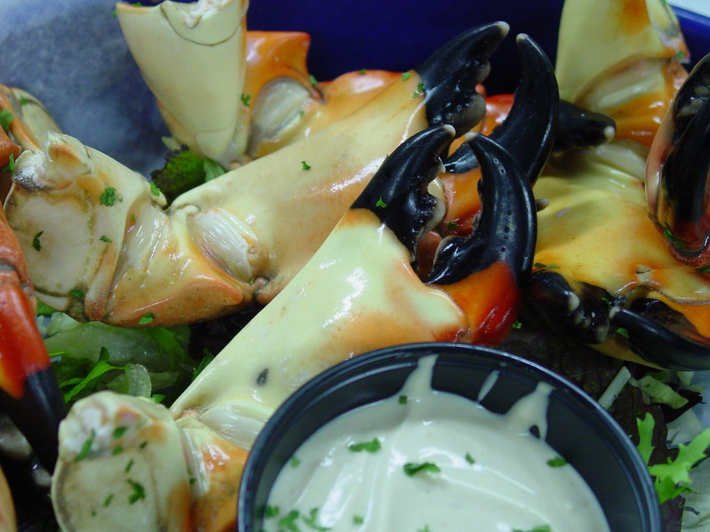 Stone Crab season runs from October to March, get them while you can!