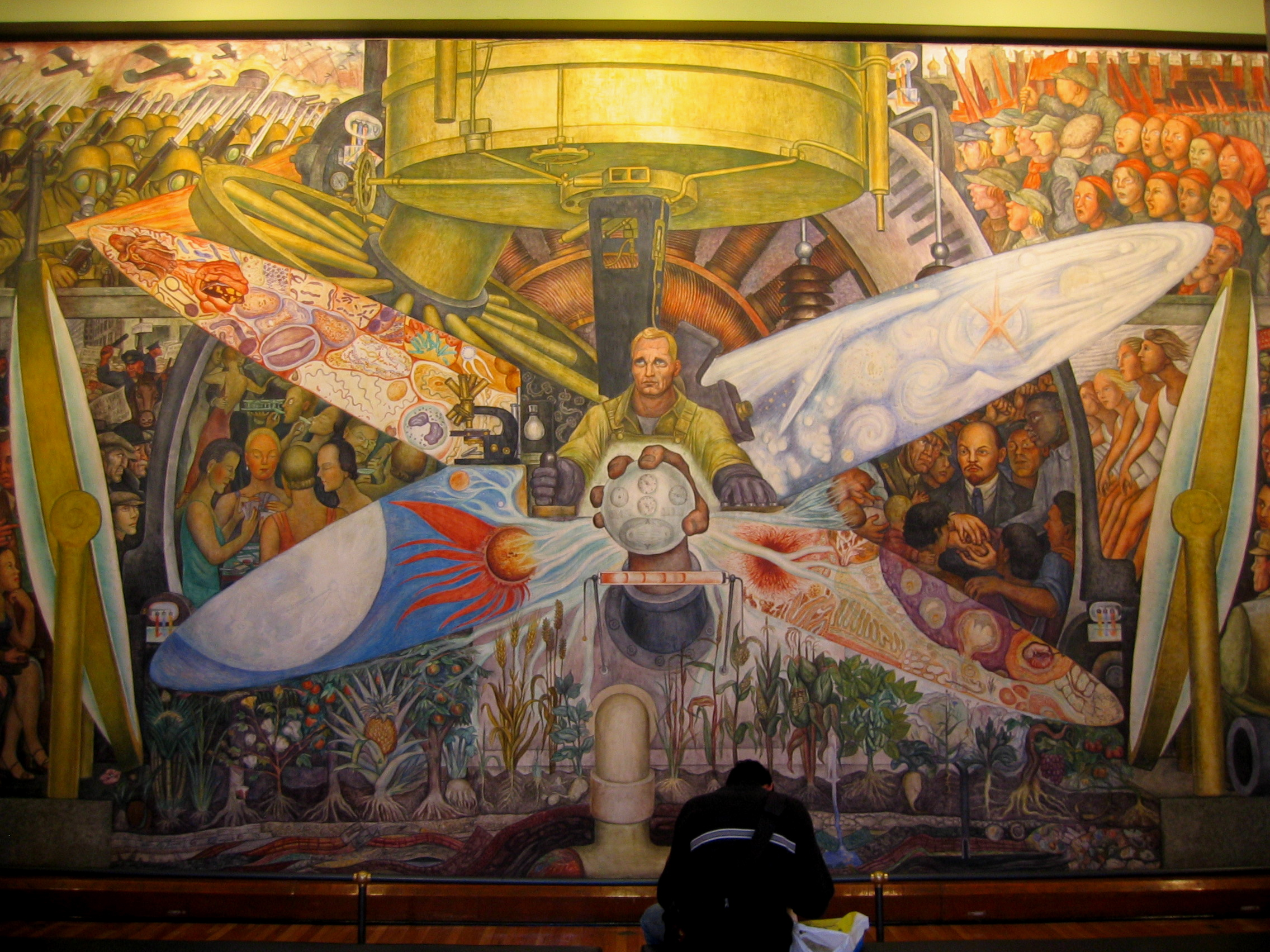A guide to the palacio de bellas artes for Ceiling mural in a smoker s lounge