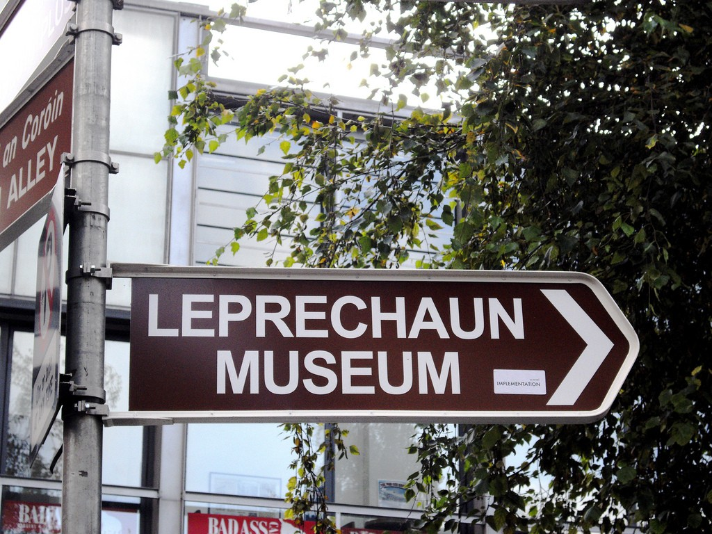 A sign for the National Leprechaun Museum | © Rev Stan/Flickr