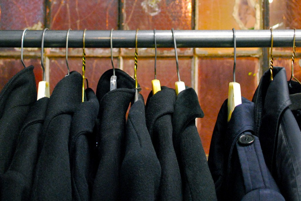 Coat rack at The Garment District| ©Laura Bittner/Flickr