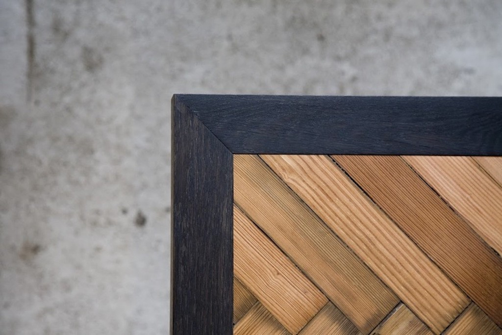 Seven Wood's Parquet Table | ©Cale Brennan Aaslepp Courtesy of Sevenwood