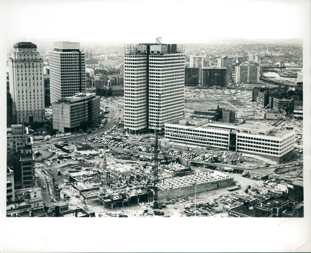 Construction of City Hall Plaza | ©City of Boston Archives/Flickr