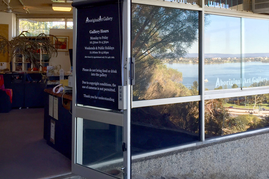 Overlooking the Swan River and City of Perth, in Kings Park, lies the Aboriginal Art Gallery © Courtesy of Aboriginal Art Gallery