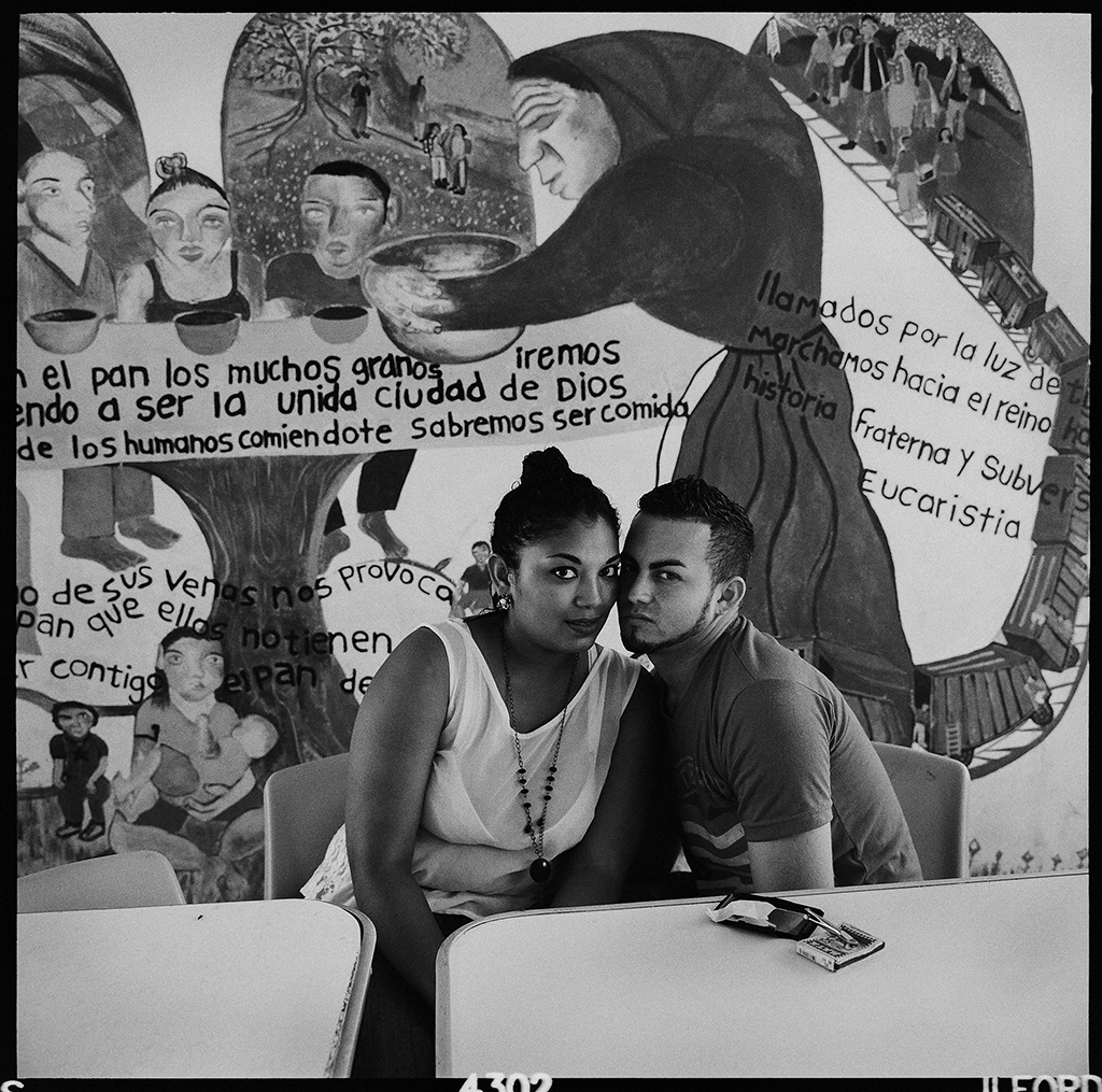 Graciela Iturbide 2015 Tenosique, Mexico This young couple from Honduras met in La 72 shelter and fell in love. During the nearly three months they have been at La 72, they have applied and been approved for refugee status. They are ready to start a new life in Mexico.