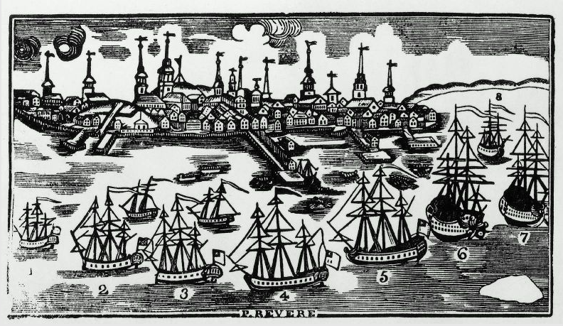 undefined More details A prospective view of the town of Boston   ©MFA