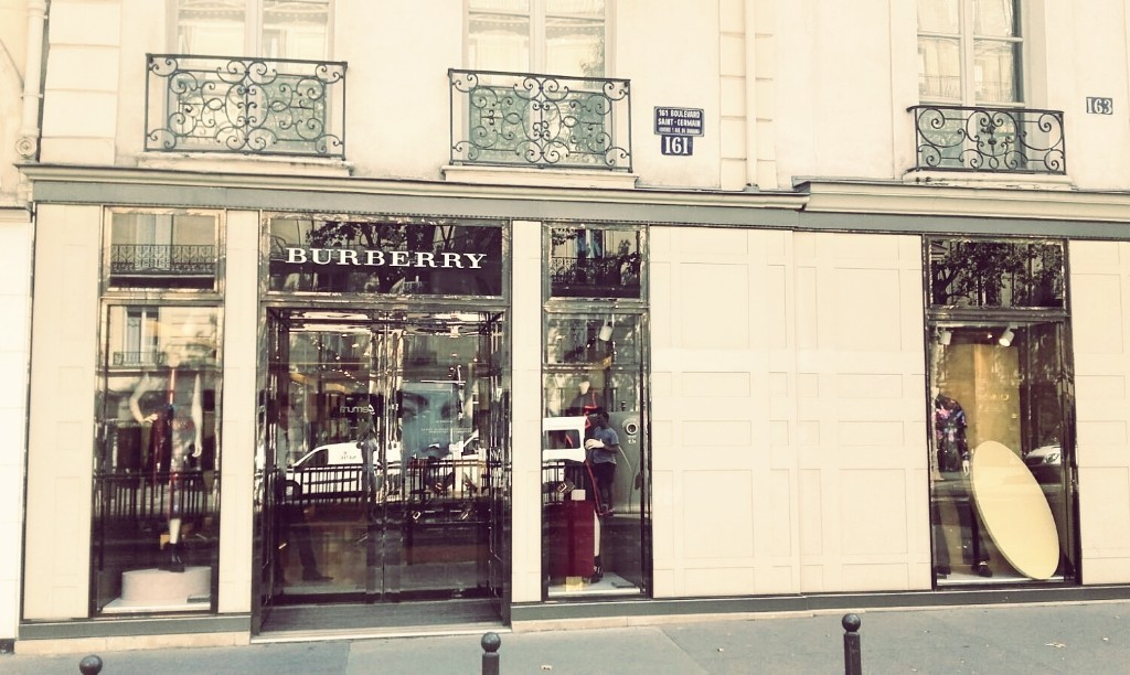 Burberry store Saint-Germain │ Courtesy of Paul McQueen