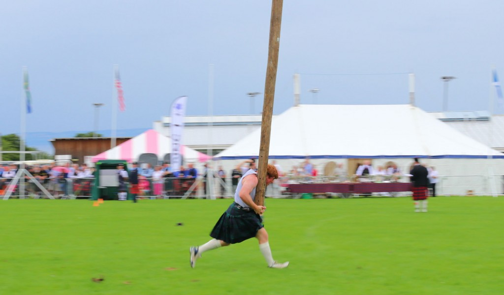Tossing The Caber | Courtesy Of Tori Chalmers