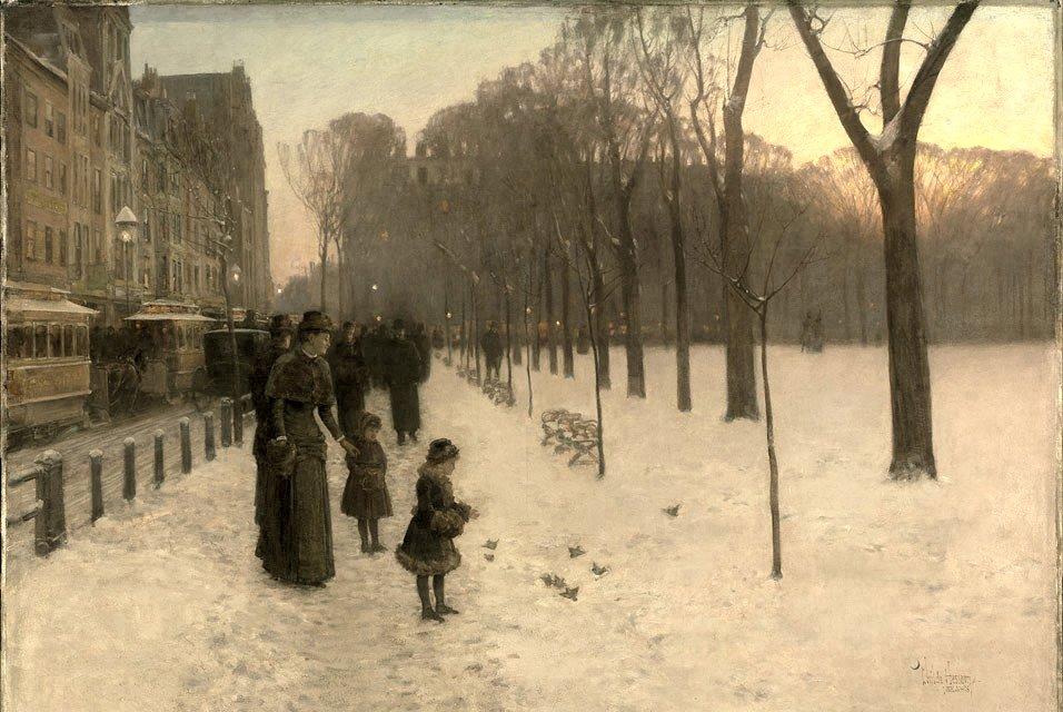 At Dusk (Boston Common at Twilight) ©Museum of Fine Arts/Wikimedia