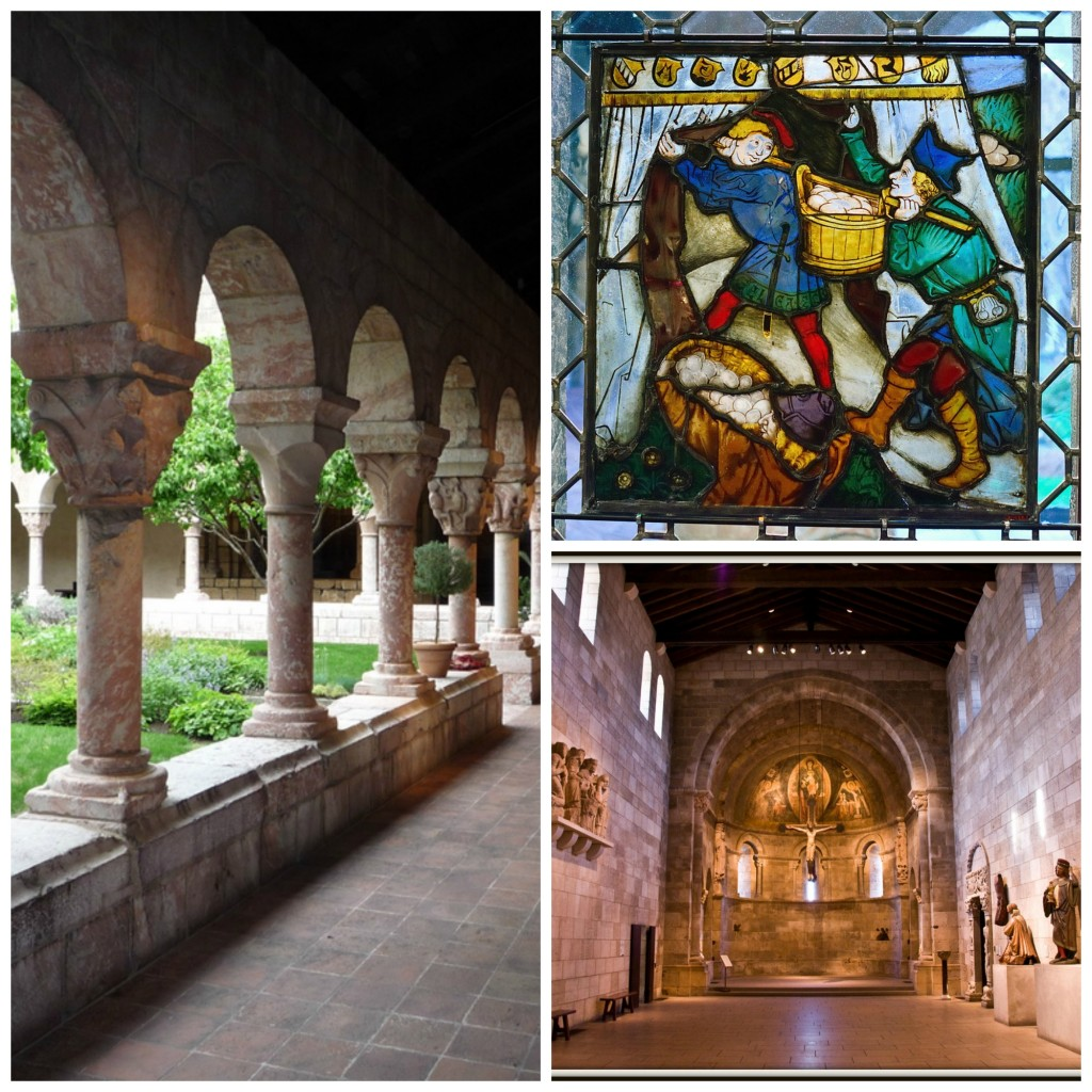 Clockwise from left l The Cloisters Museum & Gardens © e_chaya/flickr l Storing up Manna, © Ralph & Jenny l Fuentiduena Chapel at The Cloisters, ©Tony Fischer