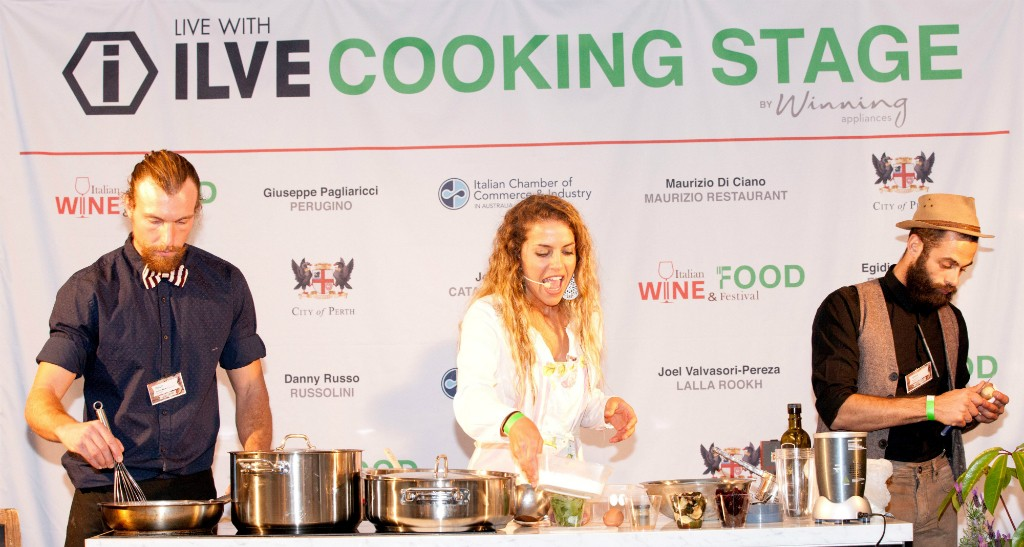 Cooking demos at Festival Italia | Courtesy of Image Portrait Studio
