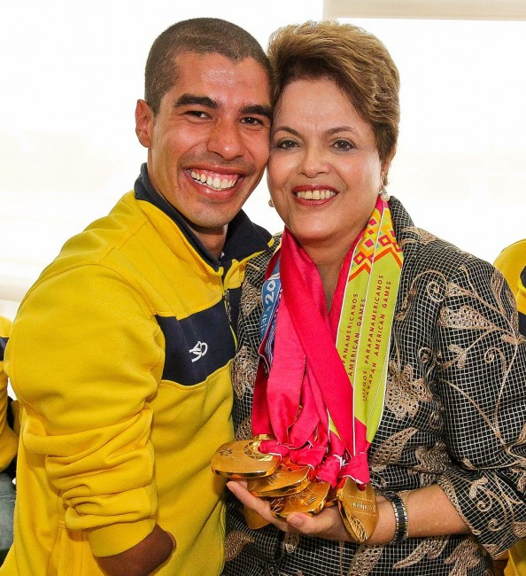 Daniel Dias with Dilma Rouseff, Brazilian ex-president |© Materialscientist/WikiCommons