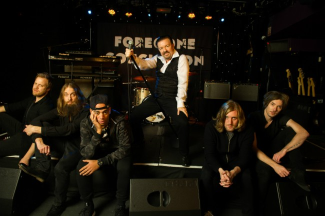 David Brent with his band Foregone Conclusion | Entertainment One