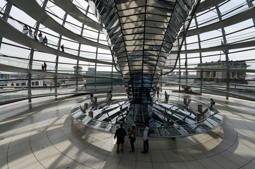 inside the Reichstag dome   © Clément Belleudy/Flickr