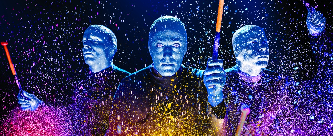 © Photo courtesy of the Blue Man Group
