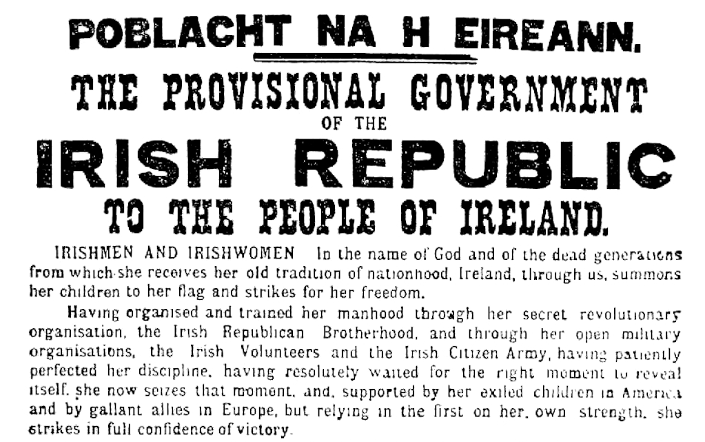Part of the Proclamation of the Irish Republic |© Jtdirl/WikiCommons