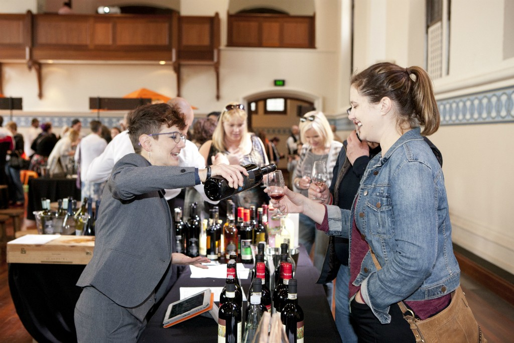 Wine tasting at Festival Italia | Courtesy of Image Portrait Studio