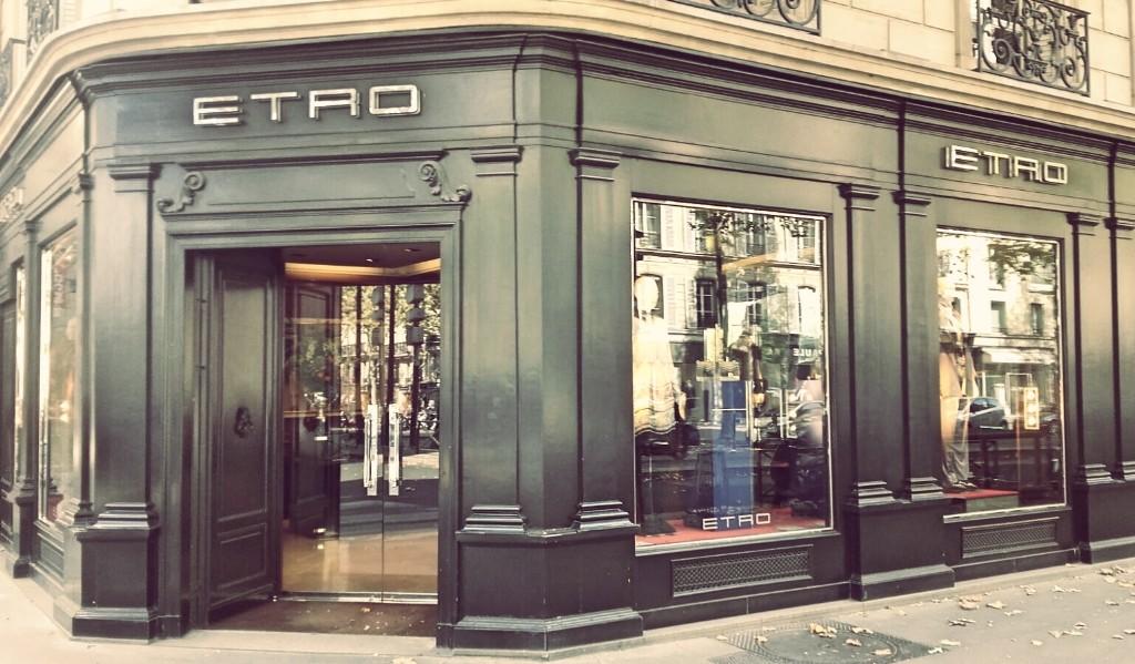 Etro store Saint-German │ Courtesy of Paul McQueen