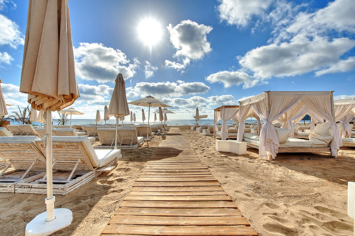 The beach chill-out area   Courtesy of Ushuaia Ibiza Beach Hotel