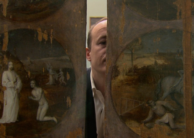 Art historian Dr. Matthijs Ilsink in 'Hieronymus Bosch: Touched by the Devil.' Pieter van Huystee Film and Television.
